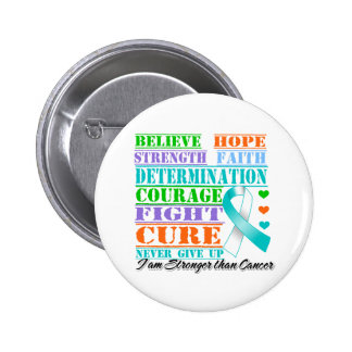 Cervical Cancer Believe Strength Determination Pinback Buttons