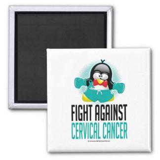Cervical Cancer Boxing Penguin Magnet