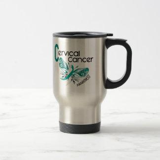 Cervical Cancer BUTTERFLY 3 Travel Mug