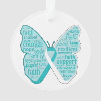 Cervical Cancer Butterfly Collage of Words