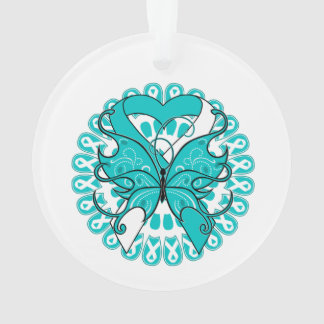Cervical Cancer Butterfly Heart Ribbon