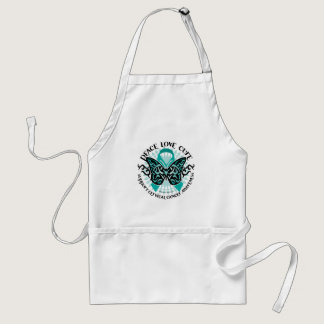Cervical Cancer Butterfly Tribal 2 Adult Apron