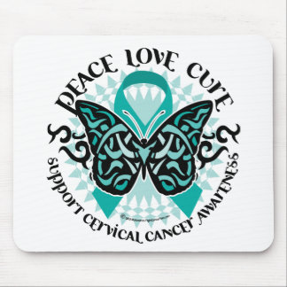 Cervical Cancer Butterfly Tribal 2 Mousepads