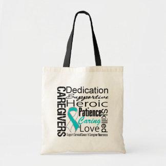 Cervical Cancer Caregivers Collage Budget Tote Bag