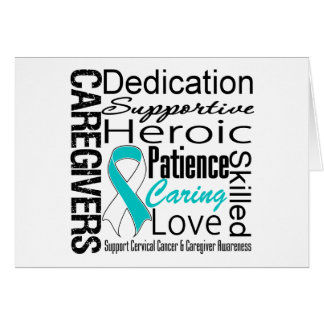 Cervical Cancer Caregivers Collage Greeting Card