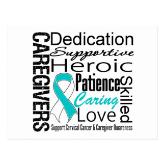 Cervical Cancer Caregivers Collage Postcard