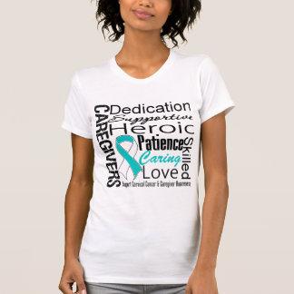 Cervical Cancer Caregivers Collage Tee Shirt