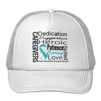 Cervical Cancer Caregivers Collage Trucker Hat