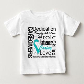 Cervical Cancer Caregivers Collage Tshirt