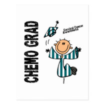 Cervical Cancer CHEMO GRAD 1 Postcard