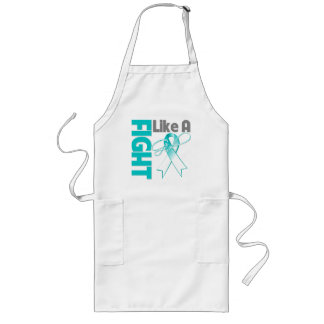 Cervical Cancer Chic Fight Like A Girl Ribbon Long Apron
