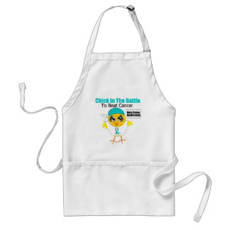 Cervical Cancer Chick In the Battle to Beat Cancer Adult Apron