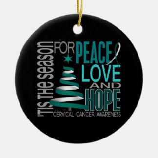 Cervical Cancer Christmas 1 Ornaments