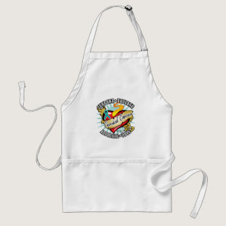 Cervical Cancer Classic Heart Adult Apron