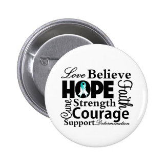 Cervical Cancer Collage of Hope Button