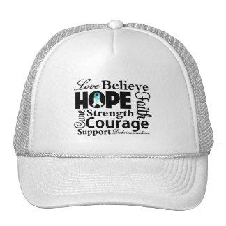 Cervical Cancer Collage of Hope Trucker Hat