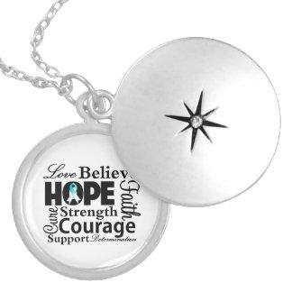 Cervical Cancer Collage of Hope Pendants