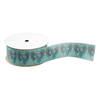Cervical Cancer Cool Awareness Wings Grosgrain Ribbon