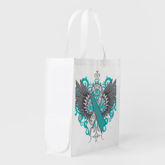 Cervical Cancer Cool Awareness Wings Market Tote