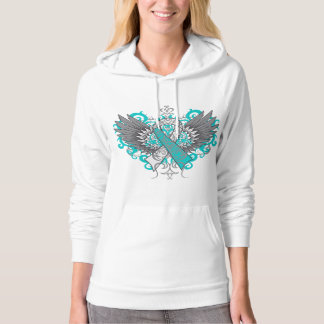 Cervical Cancer Cool Wings Hooded Sweatshirts