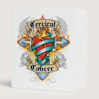 Cervical Cancer Cross & Heart Binder