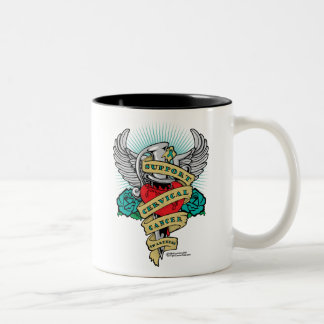 Cervical Cancer Dagger Two-Tone Coffee Mug