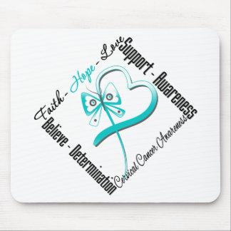 Cervical Cancer Faith Hope Love Butterfly Mousepads