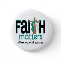 Cervical Cancer Faith Matters Cross 1 Button
