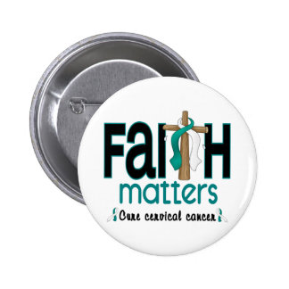 Cervical Cancer Faith Matters Cross 1 2 Inch Round Button