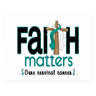 Cervical Cancer Faith Matters Cross 1 Postcard