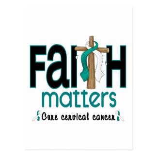 Cervical Cancer Faith Matters Cross 1 Postcard