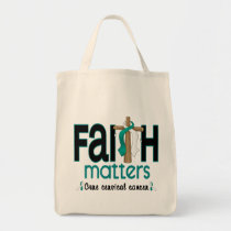 Cervical Cancer Faith Matters Cross 1 Tote Bag