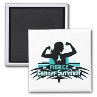 Cervical Cancer Fierce Cancer Survivor Magnets
