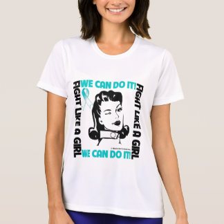Cervical Cancer - Fight Like A Girl - We Can Do It Tees