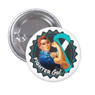Cervical Cancer Fighter Gal Button