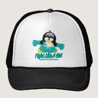 Cervical Cancer Fighting Penguin Trucker Hat