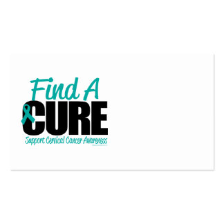 Cervical Cancer Find A Cure Double-Sided Standard Business Cards (Pack Of 100)