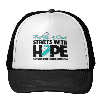 Cervical Cancer Finding a Cure Starts With Hope Trucker Hat