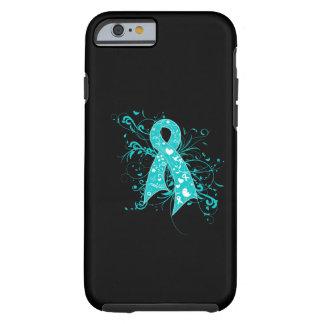Cervical Cancer Floral Swirls Ribbon iPhone 6 Case