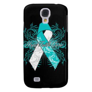 Cervical Cancer Flourish Hope Faith Cure Galaxy S4 Cover