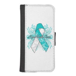 Cervical Cancer Flourish Hope Faith Cure iPhone 5 Wallets
