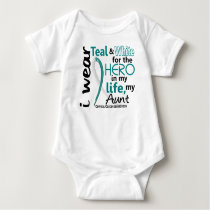 Cervical Cancer For My Hero My Aunt 2 Baby Bodysuit