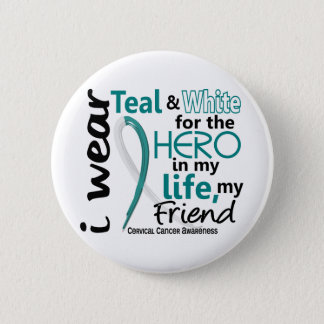 Cervical Cancer For My Hero My Friend 2 Pinback Button