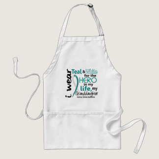 Cervical Cancer For My Hero My Granddaughter 2 Adult Apron