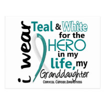 Cervical Cancer For My Hero My Granddaughter 2 Postcard