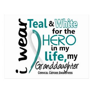 Cervical Cancer For My Hero My Granddaughter 2 Postcard