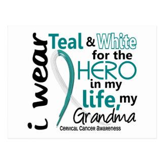 Cervical Cancer For My Hero My Grandma 2 Postcard