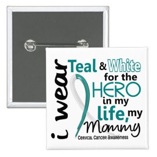 Cervical Cancer For My Hero My Mommy 2 Pin