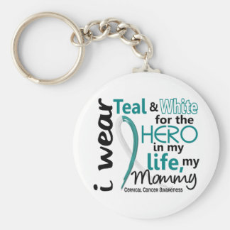 Cervical Cancer For My Hero My Mommy 2 Keychain