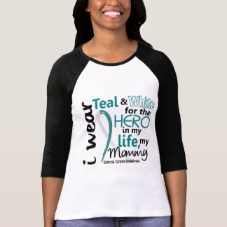 Cervical Cancer For My Hero My Mommy 2 T Shirts